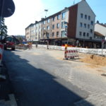 Baustelle in der Bahnstraße im September 2016