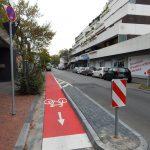Fahrradschleuse Einmündung Roonstraße in die Bahnstraße